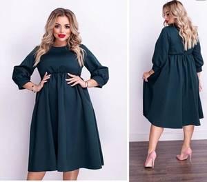 Платье короткое однотонное А15538