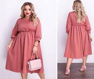 Платье короткое однотонное А15539