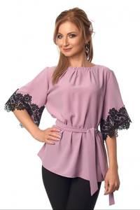 Блуза с кружевом Ц3489