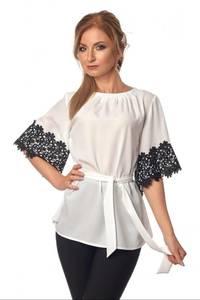 Блуза с кружевом Ц3490