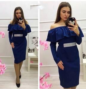 Платье короткое с длинным рукавом Ц3484