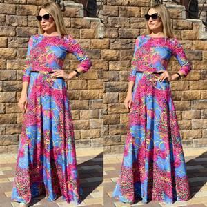 Платье длинное нарядное Ц6509