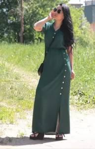 Платье длинное однотонное Ц9890