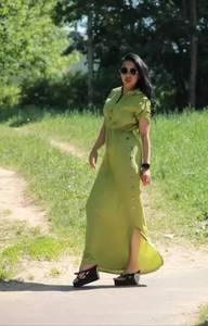 Платье длинное однотонное Ц9891