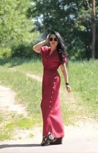 Платье длинное однотонное Ц9892