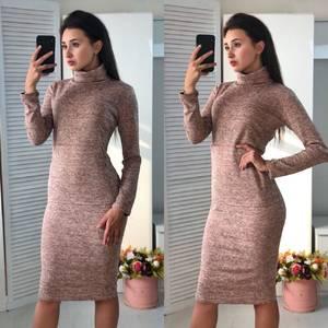 Платье короткое облегающее теплое Ф3600