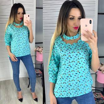 Блуза с цветочным принтом Ц5567