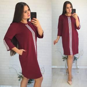 Платье короткое с рукавом 3/4 Ф3603