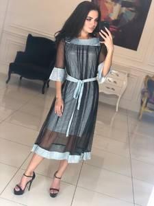 Платье длинное однотонное вечернее Ф5098