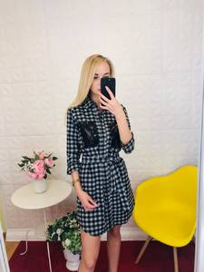 Платье короткое с рукавом 3/4 Ц9782
