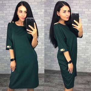 Платье короткое однотонное Ф1488