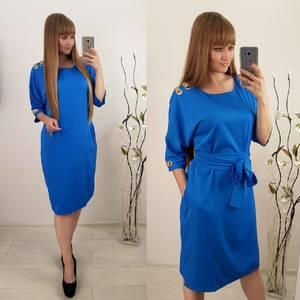 Платье короткое однотонное Ф1497
