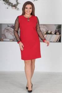 Платье короткое нарядное однотонное Ф5527