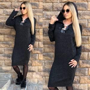 Платье короткое с длинным рукавом повседневное Ф1500