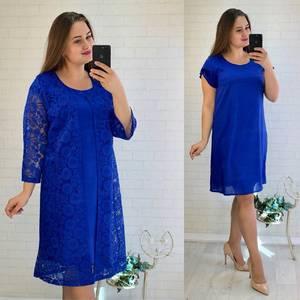 Платье Двойка короткое нарядное однотонное Ф5531