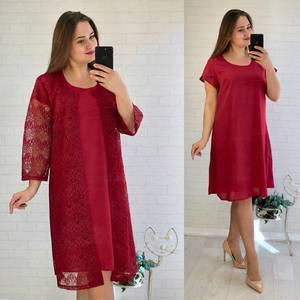 Платье Двойка короткое нарядное однотонное Ф5533