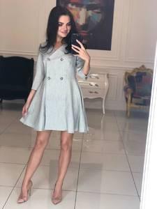 Платье короткое с рукавом 3/4 классическое Ф5110