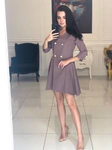 Платье короткое с рукавом 3/4 классическое Ф5111