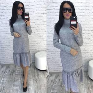 Платье короткое с длинным рукавом современное Ф0355