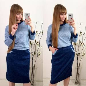 Костюм юбочный модный Ф3608