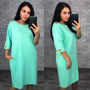 Платье короткое однотонное Ф1489