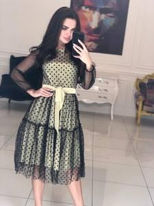 Платье короткое коктейльное современное Ф5114