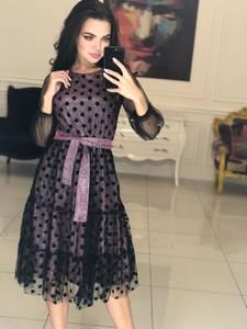 Платье короткое коктейльное современное Ф5117