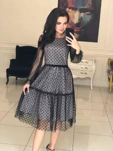 Платье короткое коктейльное современное Ф5118