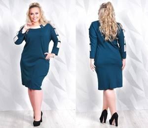 Платье короткое нарядное деловое Ф5551