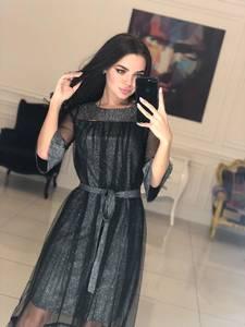 Платье длинное однотонное вечернее Ф5099
