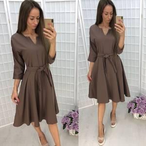 Платье короткое однотонное современное Ф6339