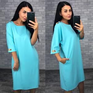 Платье короткое однотонное Ф1490