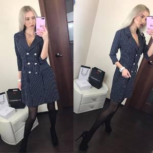 Платье короткое с рукавом 3/4 элегантное Ф6393