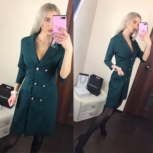Платье короткое с рукавом 3/4 современное Ф6392