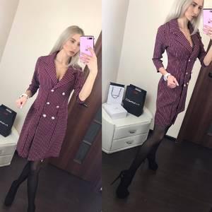 Платье короткое с рукавом 3/4 классическое Ф6391