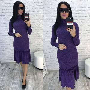 Платье короткое с длинным рукавом современное Ф0357