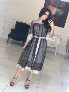 Платье длинное однотонное вечернее Ф5100