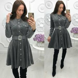 Платье короткое с длинным рукавом современное Ф5475