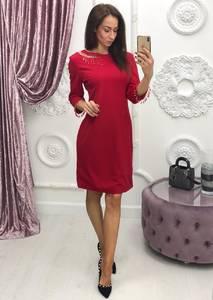 Платье короткое с рукавом 3/4 современное Ф6399