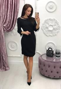 Платье короткое с рукавом 3/4 современное Ф6400
