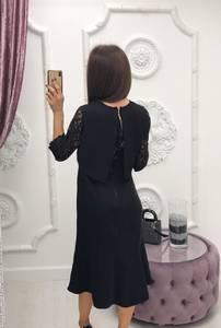 Платье короткое с рукавом 3/4 классическое Ф6401