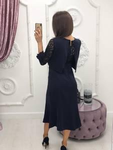 Платье короткое с рукавом 3/4 современное Ф6403