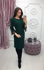 Платье короткое с рукавом 3/4 современное Ф6404