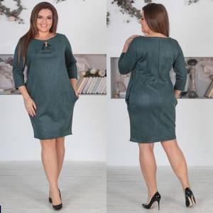 Платье короткое нарядное однотонное Ф5522