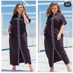 Платье длинное с коротким рукавом А48201