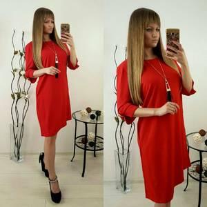 Платье короткое однотонное Ф1492