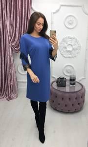 Платье короткое с рукавом 3/4 современное Ф6406