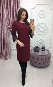 Платье короткое с рукавом 3/4 современное Ф6407