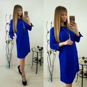 Платье короткое однотонное Ф1493