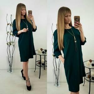 Платье короткое однотонное Ф1494
